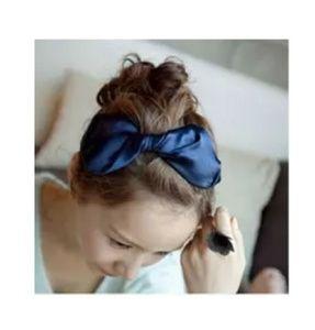 Navy Japanese Large Bow Headband